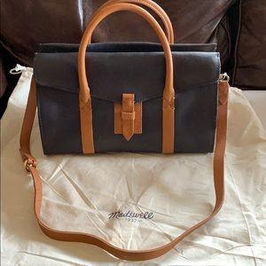 NWT Madewell Pocket Satchel Shoulder Leather Bag